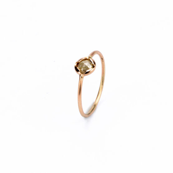 artest milano anello oro rosa 9kt diamante
