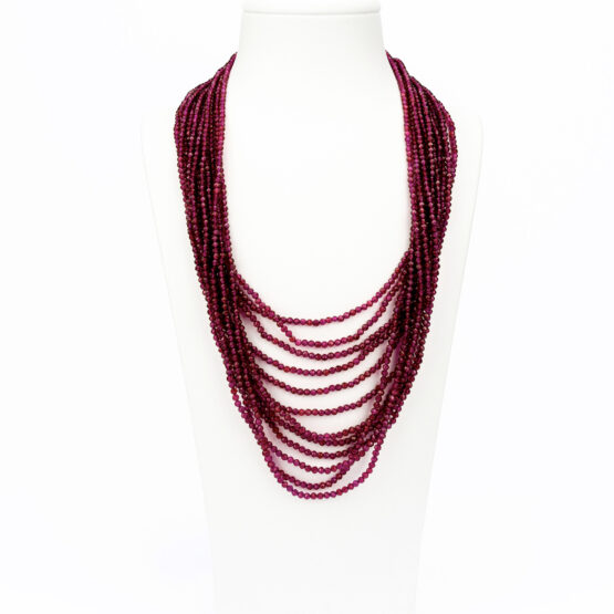 CL20-007-artest-milano-collana-mille-fili-granato-rosso-chiusura-argento-925-dorata-rosa