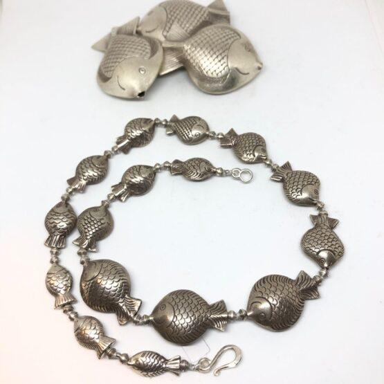 girocollo pesciolini in argento