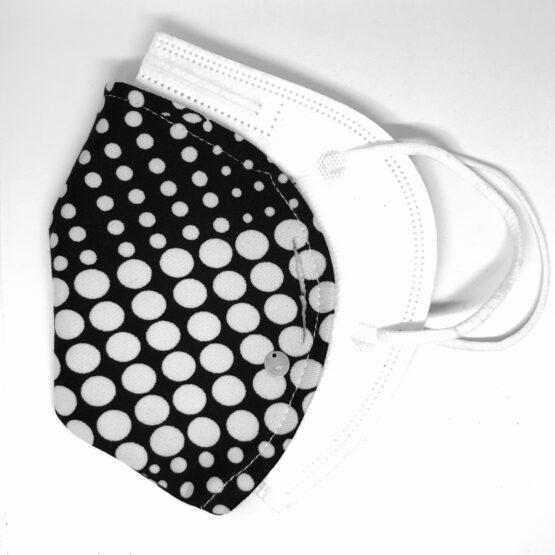 artest mascherina minimask copri-ffp2 pois biancoenero